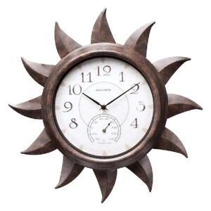 AcuRite 19-in Analog Outdoor Bronze Sun Clock