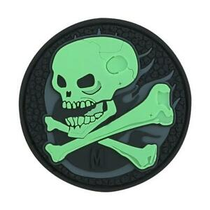 Maxpedition SKULZ Morale Patch Glow in Dark Skull 3D Tactical