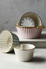 NEW Anthropologie Aurora Raised Bloom Pink Mint Cupcake 4 Measuring Cups GIFT