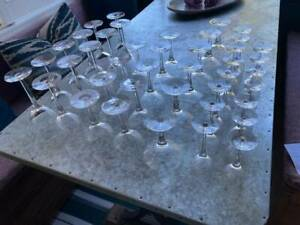 Crystal glass set made in Sweden by Orrefors circa 1984