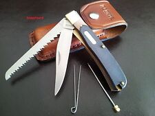 Schrade Old Timer Buzzsaw Trapper 97OT+ Leather Belt Pouch Folding Pocket knife