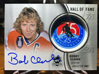 Bobby Clarke 2018-19 Upper Deck The Cup On Card Auto & Hall Of Fame Patch.
