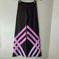 Margarita Activewear Brown Pink Pants Size 2 Flair Pant High Quality Supplex