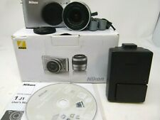 Nikon 1 J1 10.1MP Digital Camera -Silver(Kit w/ VR 10-30mm f/3.5-5.6 Lens)-Used