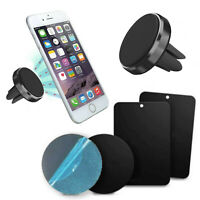 Magnet Mobile Phone Car Holder Air Vent Mount With 4 Spare Adhesive Plates