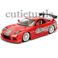 Jada Fast and Furious Mazda RX-7 1:24 Diecast Model Car 98338 Red