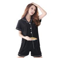 Womens Silk Satin Pajamas Set Pajama Pyjamas Set Sleepwear Loungewear HOT