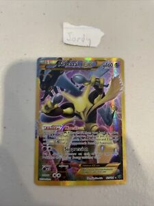 Alakazam EX 125/124 Full Art Secret Rare - Fates Collide Pokemon Card