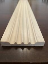 "White Hardwood Fluted Window and Door Casing Trim 3"" x 84"" (6 Piece Lot) (42')"