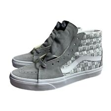 Vans SK8 Hi Off The Wall Checkerboard Grey White Mens Size 10