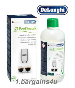 Delonghi Coffee Maker Machine Descaler 500ml EcoDecalk Espresso Automatic Clean!