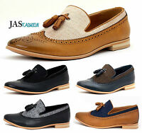 Mens Smart Casual Slip On Shoes Comfortable Italian Style Tassel Formal Office