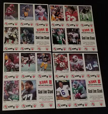 1989 - VACHON - CFL - FOOTBALL - 5 CARDS UNCUT PANEL (4)