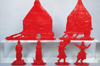 Set of soldiers Polovtsy camp 54mm 1:32 plastic 6 figures