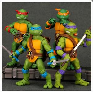 4PCS Teenage Mutant Ninja Turtles Set TMNT Action Figures 1988 Vintage Classic