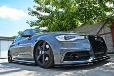 schwarze Seitenschweller Audi A6 4G C7 Side Skirts Leisten Schweller abs ansatz