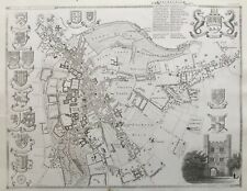 1841 Antique Map / Plan; University and Town of Cambridge by Thomas Moule