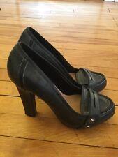 True Religion Weathered Blue Platform Heels, Size 9