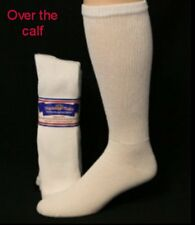 Physicians Choice 12pr.Big Man's Over the Calf  13-15 WHITE Diabetic Socks