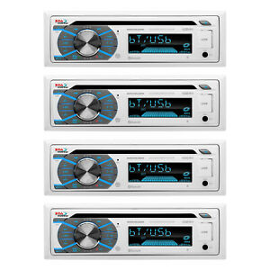 Boss CD/MP3 Marine/Boat In-Dash Player USB/AUX SD Receiver+Bluetooth (4 Pack)