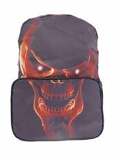 RED SKULL FACE Terminator Backpack Rucksack School College Goth Rock Punk Bag