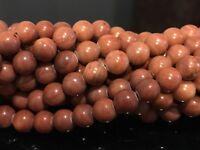 "8mm - Red Malachite Round Gemstone Beads 15.5"" Strand UK EBAYER"
