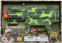 MAXX ACTION MACHINE GUN TOY RIFLE ELECTRONIC SOUNDS LIGHTS VIBRATION GREEN