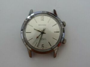 Fine Vintage Waltham Alarm Cricket Stainless Steel Watch