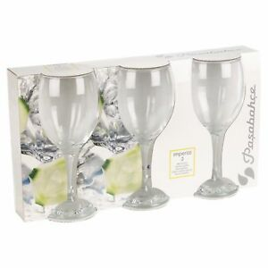Job Lot 84 x Pasabahce White Wine Gin Glasses Dinner Event Party Gift Bar 340 cc