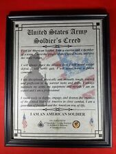 Mc-Nice: Army Soldier's Creed All Units Framed Personalized