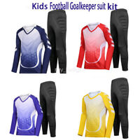 Giamfit Soccer Goalkeeper GK Long Sleeve Jersey & Pants Kits For Kids Youth New
