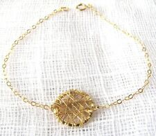 Gold bracelet circle, bracelet minimalist, bracelet gold filled 14k, karma
