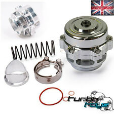 UNIVERSAL 50MM SILVER V BAND TURBO SUPER CHARGE BLOW OFF BOV DUMP VALVE KIT