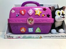 NEW DISNEY LEARNING PET CARRIER PLAY SET PURPLE FIGARO Minnie Mouse Clubhouse