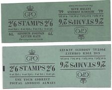 Uk Gb 1953 Uncut Proofs Of Two 2'6 d Booklet Covers Different Slogans & Adverts