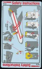 TWA trans world airlines B 727 - 31 airline SAFETY CARD memorabilia ee e336