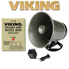 Viking M2W Paging Power Amp with 25AE PA Paging Horn Loud Speaker Bundle