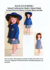 School Uniform Sewing Pattern for Sindy's Sister Patch