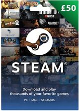 Steam Wallet Gift Card - £50