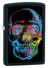 "Zippo Lighter ""X Ray Skull"" No 28042 on black matte finish - New"