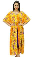 Bimba Women Long Maxi Floral Kaftan Multicolor Cotton Caftan Floral-dW4