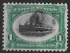 USA 1901 1c stamp - east lake navigation - nautical shows boat - see scan
