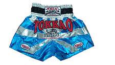 Yokkao Muay Thai shorts Blue Silver-Saenchai Muay Thai Gym-