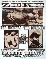 Zeke Concert Poster Lindsey Kuhn