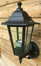 Antique Style Cast Metal Glass Exterior Wall Porch Lantern Lamp Light OLD STOCK