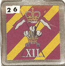 Acrylic Military Key Ring   12th. Royal lancers
