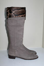 New  sz 11 / 41 Stuart Weitzman Tan Leopard Top Print Knee High Flat Boot  Shoes