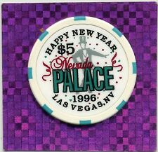 LAS VEGAS NEVADA PALACE 1996 NEW YEAR  CASINO $5  HOUSE CHIP