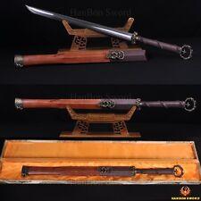 "HIGH QUALITY HAND MADE CHINESE SWORD HUAN SHOU DAO ""环首刀"" FOLDED STEEL BLADE"