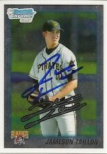 Jameson Taillon Pittsburgh Pirates 2010 Bowman Chrome Signed Card